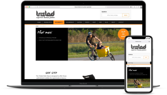 Trisled eCommerce WordPess website folio screenshot