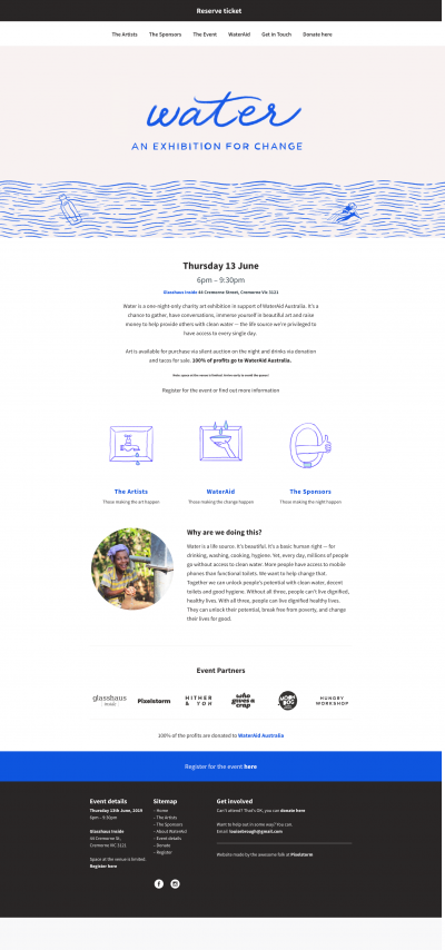 Wateraid company WordPress website folio screenshot